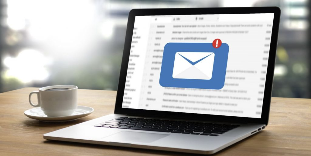 laptop with email